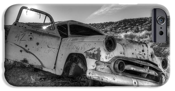 Rusted Cars iPhone Cases - Fixer Upper iPhone Case by Bob Christopher