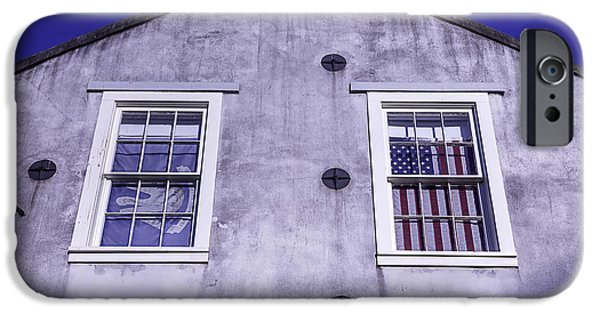 Building iPhone Cases - Flag In Window iPhone Case by Garry Gay