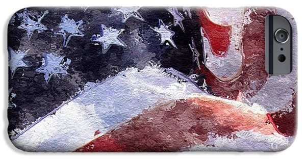 Abstract Digital Art iPhone Cases - Flag iPhone Case by Mark Taylor