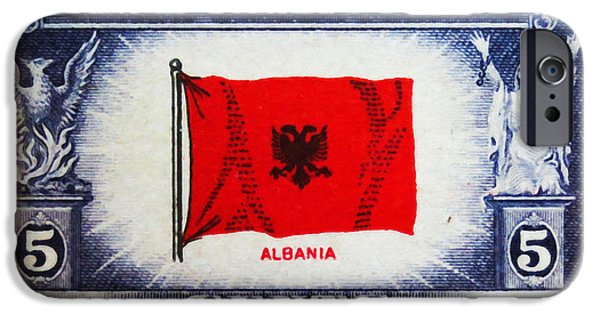 Overruns iPhone Cases - Flag of Albania iPhone Case by Lanjee Chee
