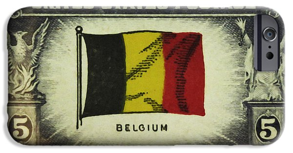 Overruns iPhone Cases - Flag of Belgium iPhone Case by Lanjee Chee