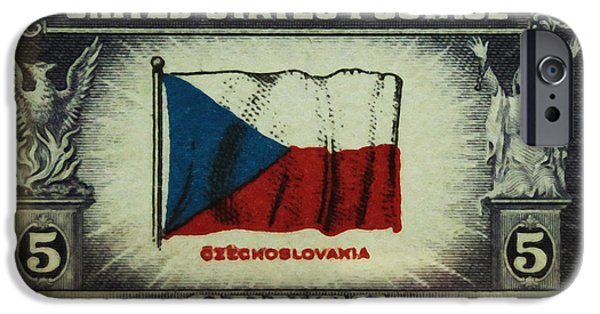 Overruns iPhone Cases - Flag of Czechoslovakia iPhone Case by Lanjee Chee