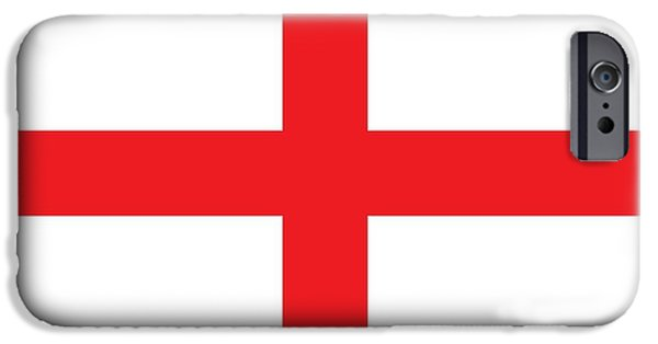 Flag Paintings iPhone Cases - Flag of England iPhone Case by English School