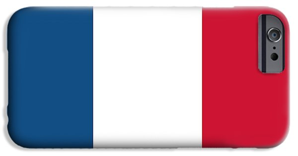Flag Drawings iPhone Cases - Flag of France iPhone Case by French School