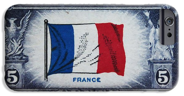 Overruns iPhone Cases - Flag of France iPhone Case by Lanjee Chee
