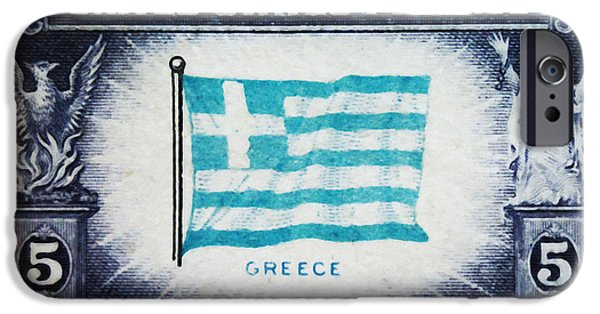 Overruns iPhone Cases - Flag of Greece iPhone Case by Lanjee Chee