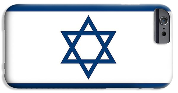 Flag Drawings iPhone Cases - Flag of Israel iPhone Case by Unknown