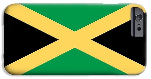 Flag Paintings iPhone Cases - Flag of Jamaica iPhone Case by Unknown