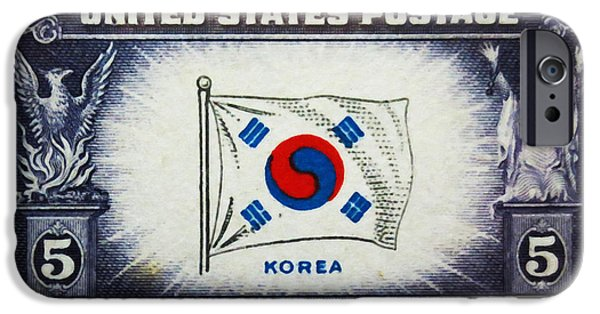 Overruns iPhone Cases - Flag of Korea iPhone Case by Lanjee Chee