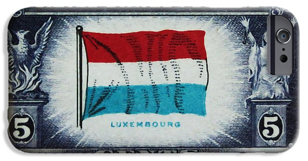 Overruns iPhone Cases - Flag of Luxembourg iPhone Case by Lanjee Chee