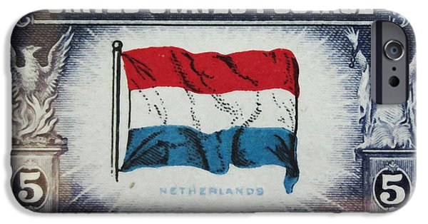 Overruns iPhone Cases - Flag of Netherlands iPhone Case by Lanjee Chee