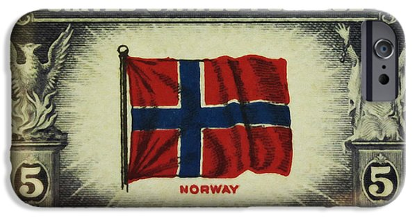 Overruns iPhone Cases - Flag of Norway iPhone Case by Lanjee Chee