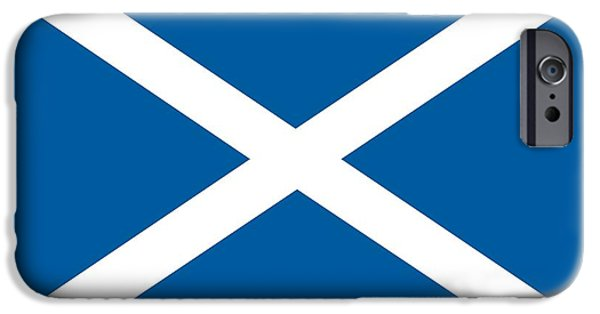 Scotland Paintings iPhone Cases - Flag of Scotland iPhone Case by Unknown