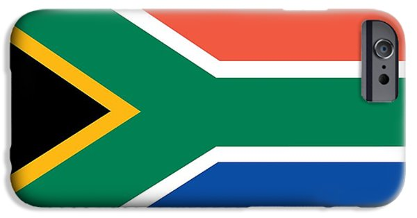 Flag Paintings iPhone Cases - Flag of South Africa iPhone Case by Unknown