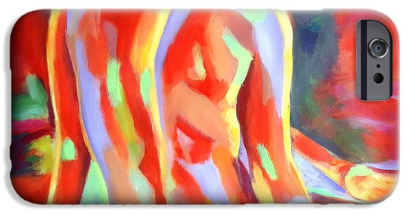 Abstract Expressionism iPhone Cases - Flame iPhone Case by Helena Wierzbicki