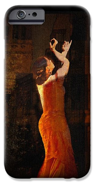 Flamenco In the Streets iPhone Case by tim Kahane