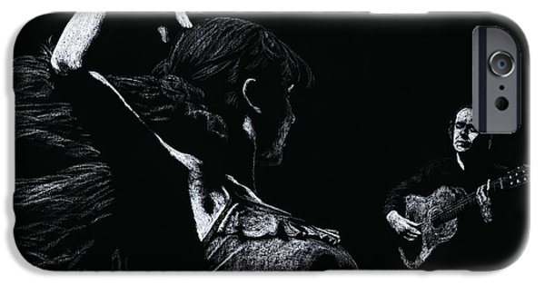 Female Pastels iPhone Cases - Flamenco Recital iPhone Case by Richard Young