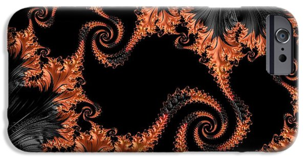 Modern Abstract iPhone Cases - Flamenco - Series Number 1 iPhone Case by Barbara Zahno