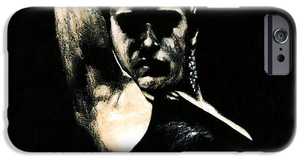 Moody Paintings iPhone Cases - Flamenco Soul iPhone Case by Richard Young
