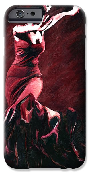 Flamenco Swirl iPhone Case by James Shepherd