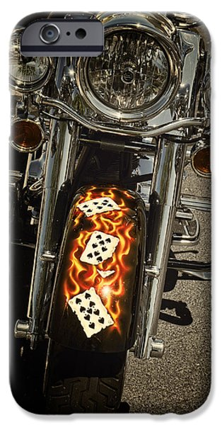 Patriots iPhone Cases - Flaming Hand iPhone Case by Lucinda Walter