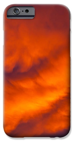 Chaos iPhone Cases - Flaming Skies iPhone Case by Az Jackson
