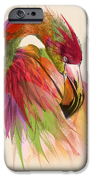 Abstract Picture iPhone Cases - Flamingo  iPhone Case by Mark Ashkenazi
