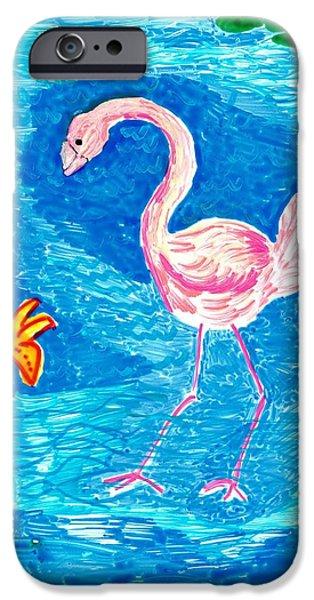 Flamingo iPhone Case by Sushila Burgess