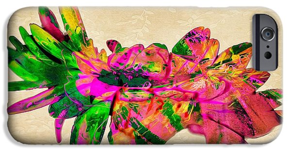Abstract Digital Pyrography iPhone Cases - Flamma II iPhone Case by David Dominguez