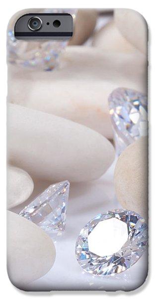 flashing diamond iPhone Case by ATIKETTA SANGASAENG