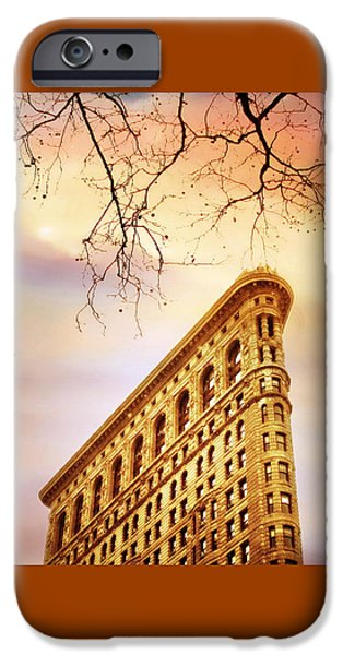 Historical Buildings iPhone Cases - Flatiron Framing iPhone Case by Jessica Jenney