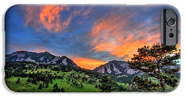 Fort Collins Photographs iPhone Cases - Flatiron Glow iPhone Case by Scott Mahon