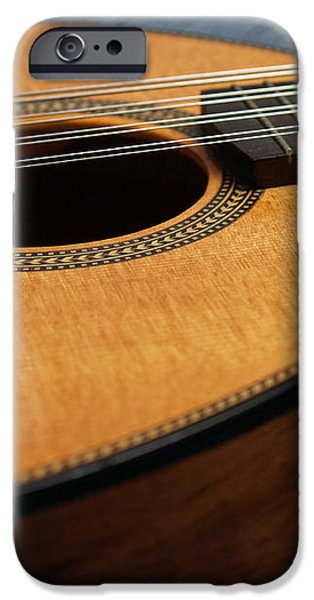 Flatiron Mandolin on Blue iPhone Case by Anna Lisa Yoder