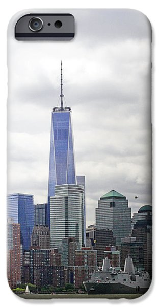 Business Photographs iPhone Cases - Fleet week in NY harbor 2015 iPhone Case by Geraldine Scull