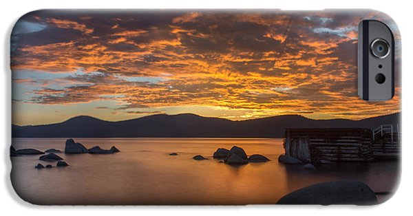 Lake Tahoe iPhone Cases - Fleeting Moments iPhone Case by Jeremy Jensen