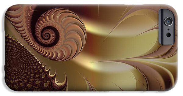 Fractal iPhone Cases - Flesh iPhone Case by Vicky Brago-Mitchell