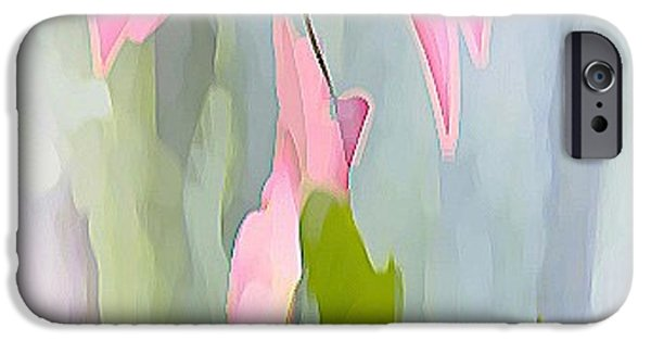 Nature Abstracts iPhone Cases - Fleur Rose iPhone Case by Valerie Beth