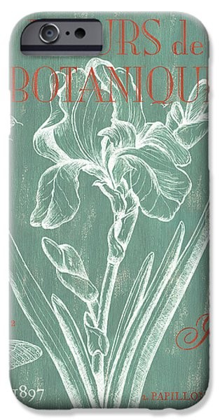 Flight iPhone Cases - Fleurs de Botanique iPhone Case by Debbie DeWitt