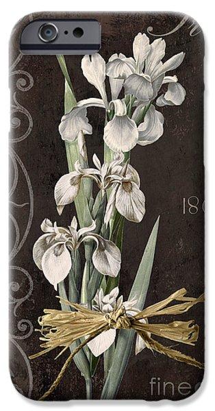 White Beard iPhone Cases - Fleurs de Paris II iPhone Case by Mindy Sommers