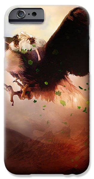 Flight of the Eagle iPhone Case by Karen K