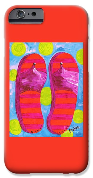 Boat iPhone Cases - Flip Flops  iPhone Case by Eloise Schneider