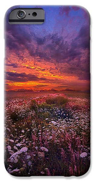 Morning iPhone Cases - Floating Along the Edge of Dawn iPhone Case by Phil Koch