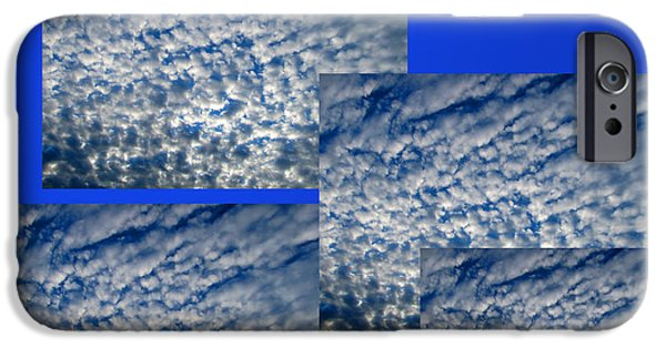 Abstract Forms iPhone Cases - Floating Clouds iPhone Case by Tina M Wenger