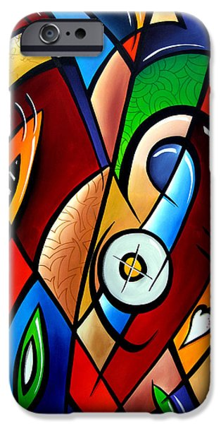 Abstract Pop Drawings iPhone Cases - Floating Hearts by Fidostudio iPhone Case by Tom Fedro - Fidostudio