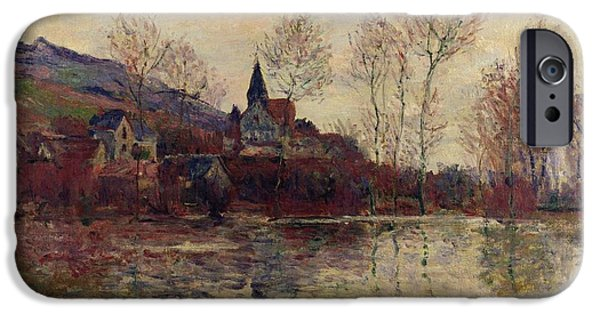 Floods iPhone Cases - Floods at Giverny iPhone Case by Claude Monet