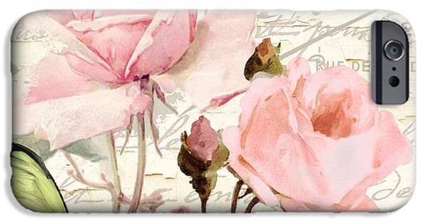 Beach Cottage Style iPhone Cases - Florabella III iPhone Case by Mindy Sommers