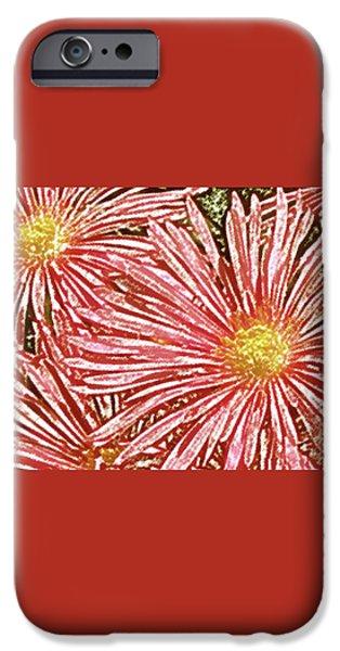 Floral Design No 1 iPhone Case by Ben and Raisa Gertsberg