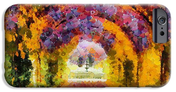 Floral Digital Art Digital Art iPhone Cases - Floral Entrance In Tiny Bubbles iPhone Case by Catherine Lott