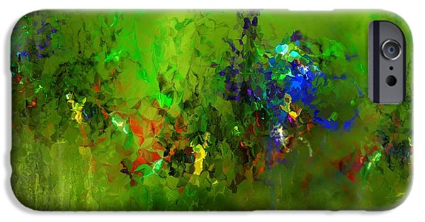 Nature Abstracts iPhone Cases - Floral Expression 100315 iPhone Case by David Lane