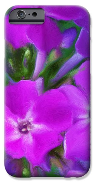 Floral Expression 2 021911 iPhone Case by David Lane